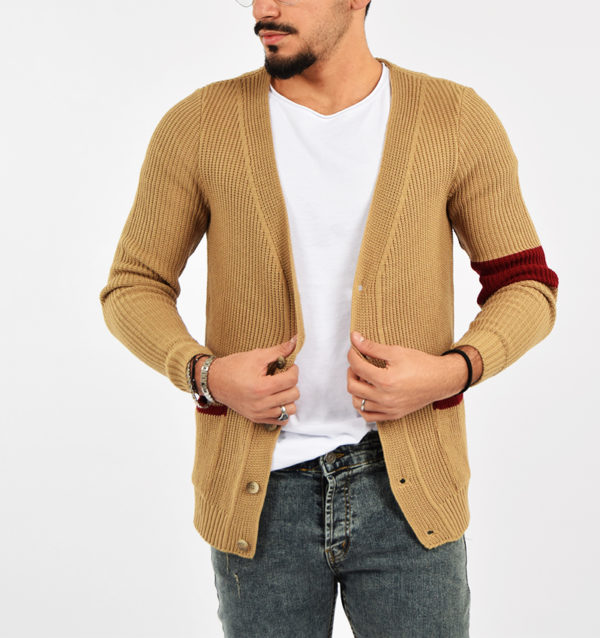 abbigliamento casual uomo (29) - Cardigan G-604 Beige.jpg