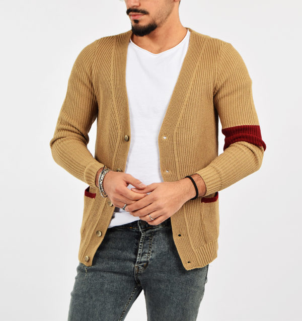 abbigliamento casual uomo (31) - Cardigan G-604 Beige.jpg