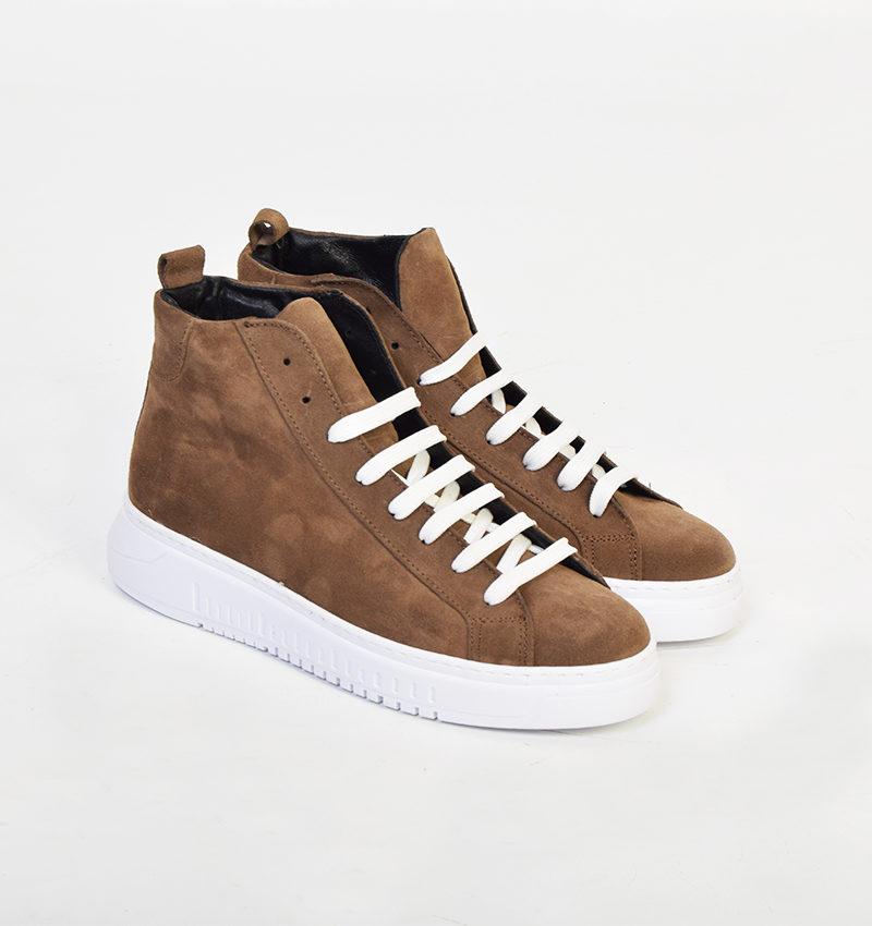 abbigliamento low cost online - scarpa alta bejge camoscio.jpg