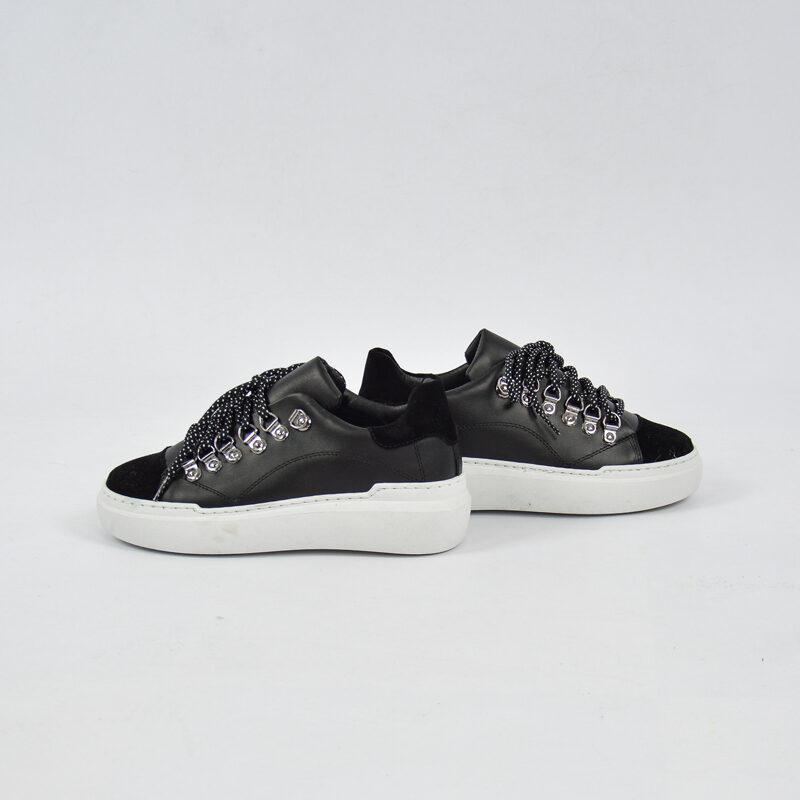 Abbigliamento Uomo Online  (7) - sneakers uomo in pelle con para alta nera.jpg