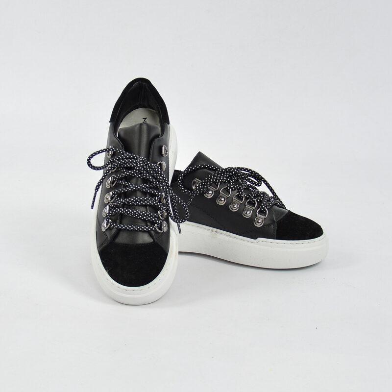 Abbigliamento Uomo Online  (9) - sneakers uomo in pelle con para alta nera.jpg