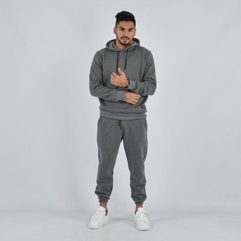 abbigliamento uomo online - tuta completa con cappuccio grigio scuro (1).jpg