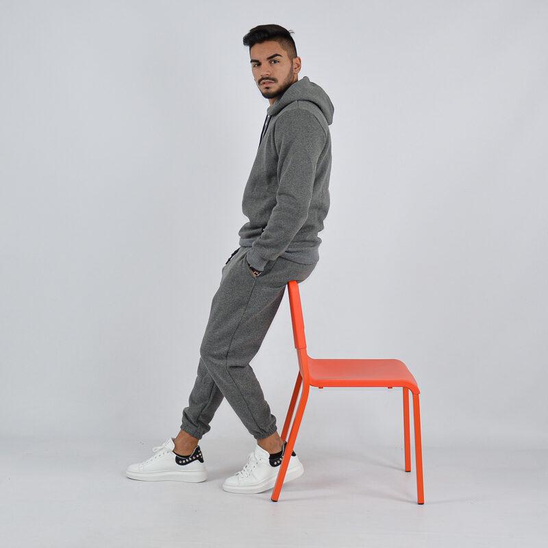 abbigliamento uomo online - tuta completa con cappuccio grigio scuro (3).jpg