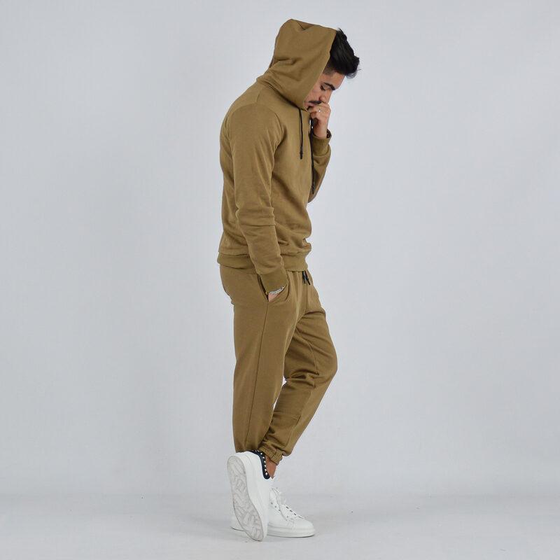 abbigliamento uomo online - tuta completa con cappuccio tortora (1).jpg