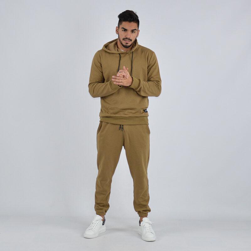 abbigliamento uomo online - tuta completa con cappuccio tortora (2).jpg
