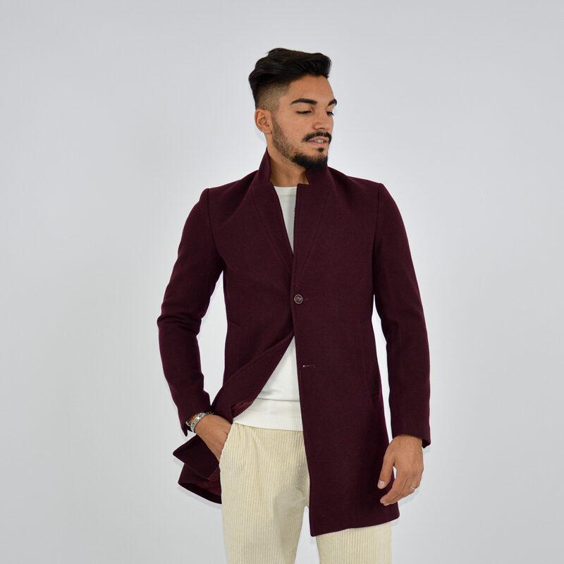 abbigliamento uomo online - cappotto uomo strutturato revers bordeaux.jpg
