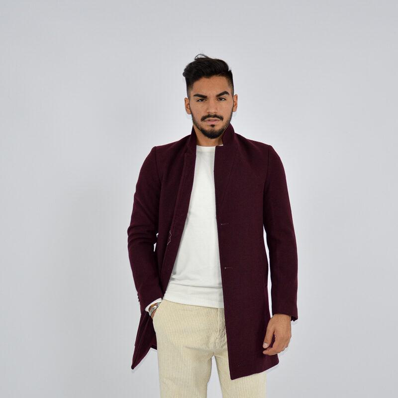 abbigliamento uomo online - cappotto uomo strutturato revers bordeaux (2).jpg