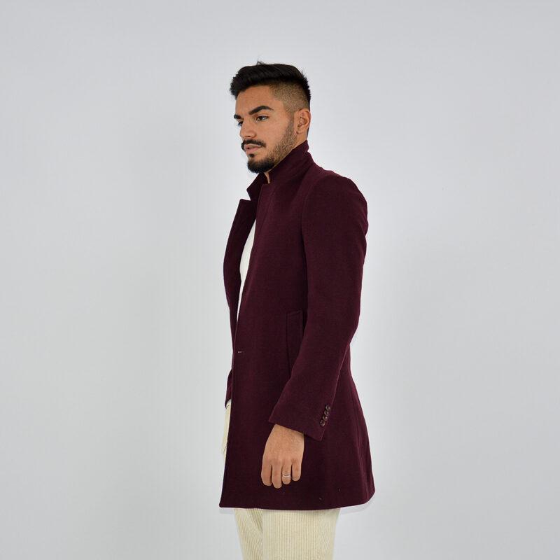 abbigliamento uomo online - cappotto uomo strutturato revers bordeaux (4).jpg
