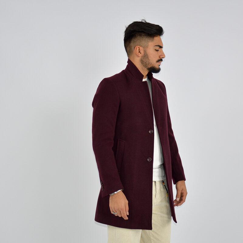 abbigliamento uomo online - cappotto uomo strutturato revers bordeaux (5).jpg