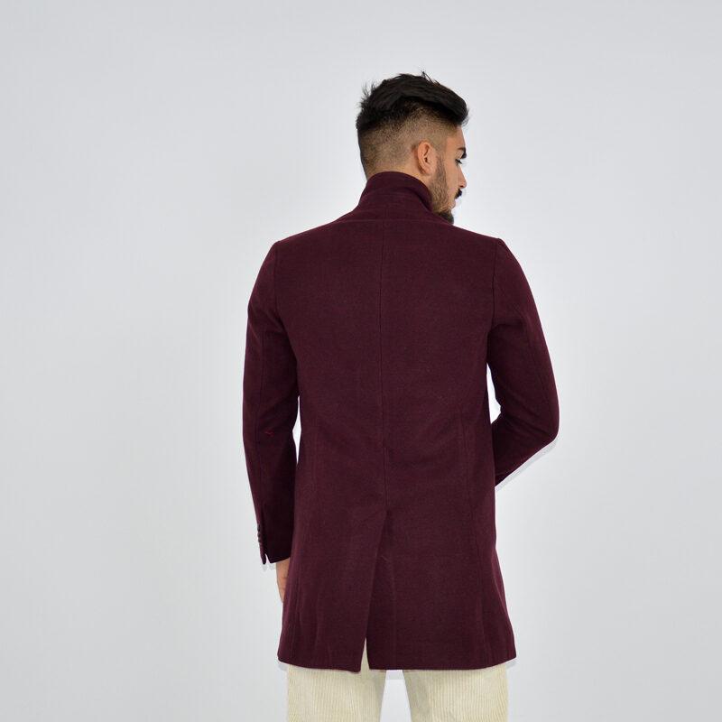 abbigliamento uomo online - cappotto uomo strutturato revers bordeaux (6).jpg