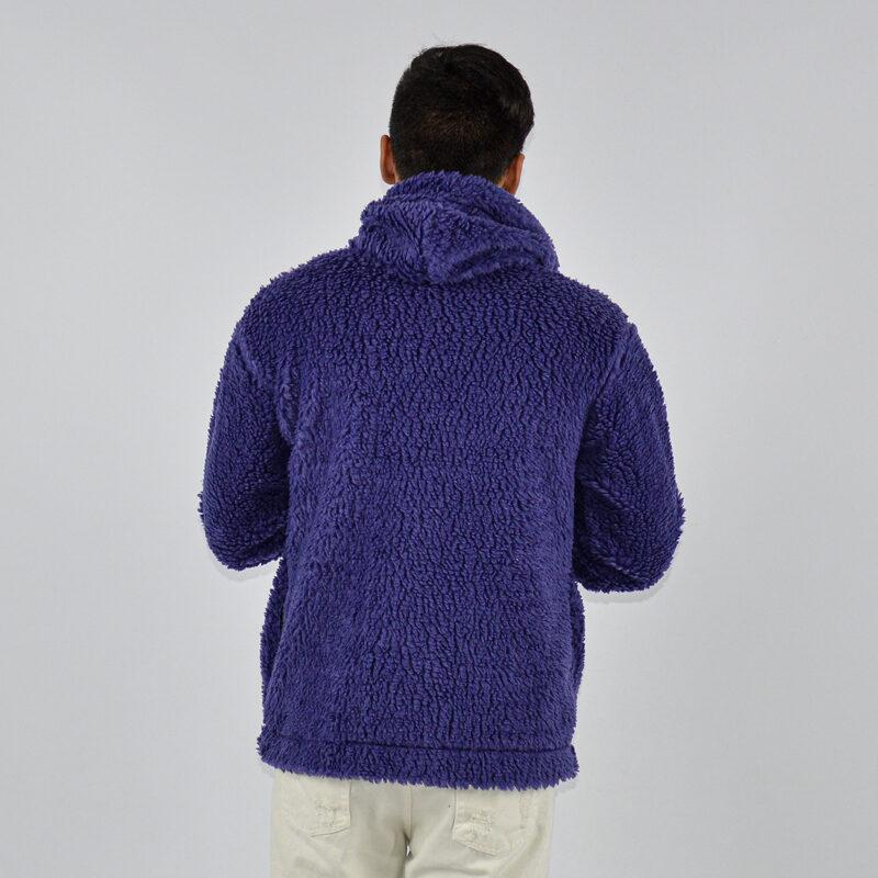 abbigliamento uomo online - felpa uomo con zip teddy con cappuccio viola (3).jpg