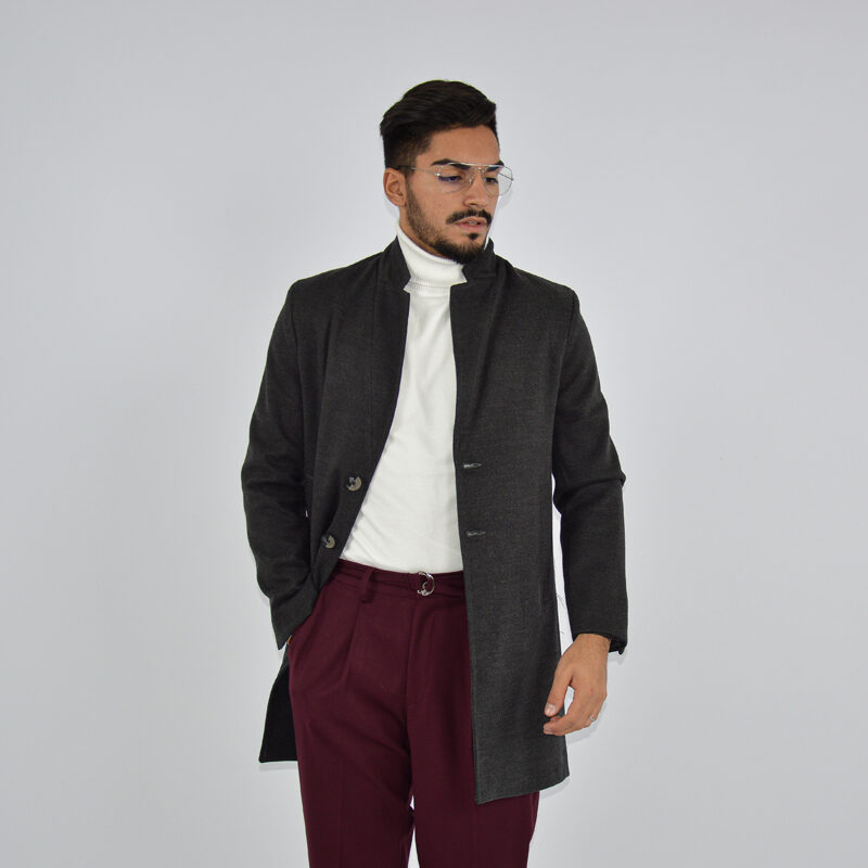 abbigliamento online - cappotto uomo strutturato revers grigio scuro (2).jpg