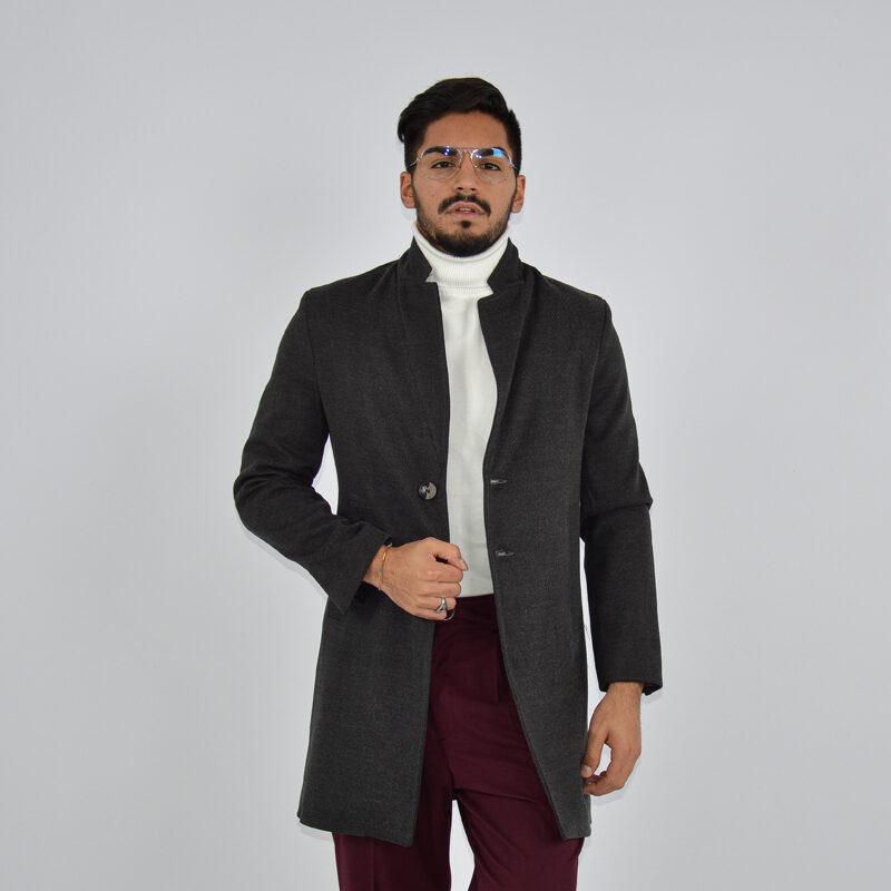 abbigliamento online - cappotto uomo strutturato revers grigio scuro (3).jpg