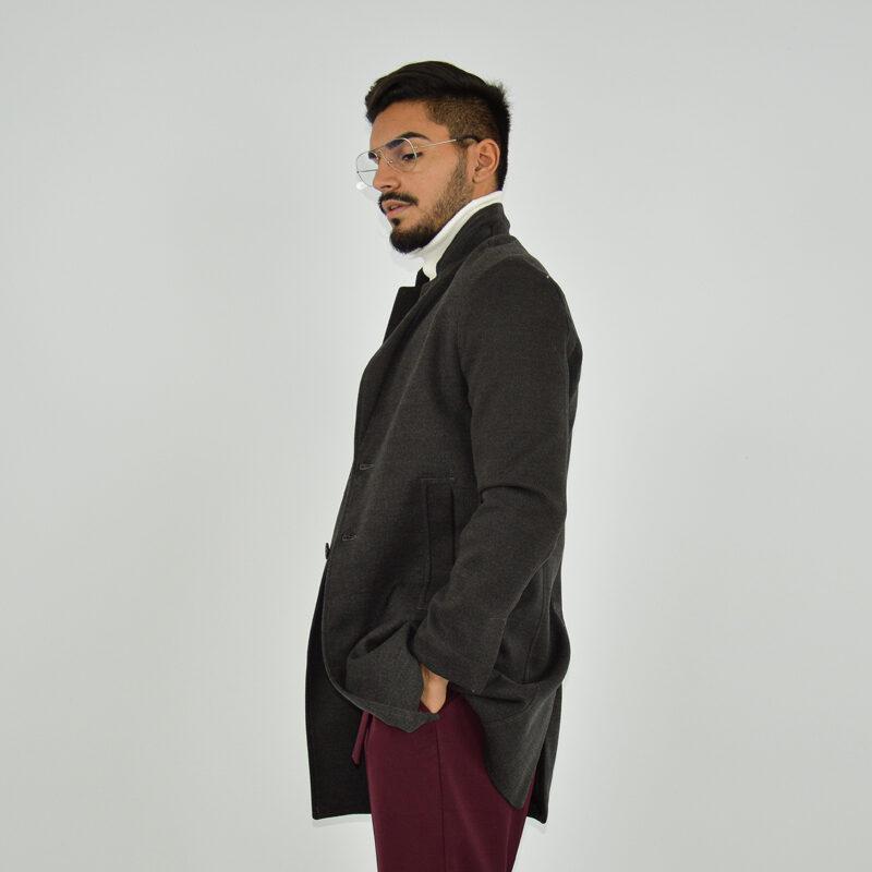 abbigliamento online - cappotto uomo strutturato revers grigio scuro (4).jpg