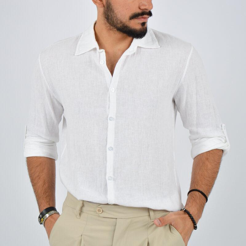 abbigliamento uomo online - camicia uomo manica lunga colletto bianca (1).jpg