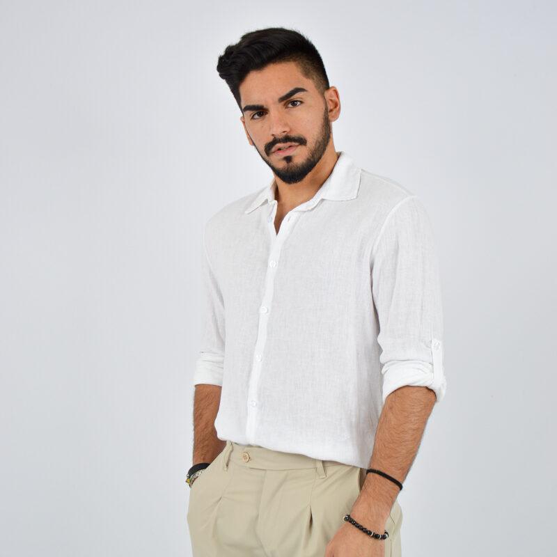 abbigliamento uomo online - camicia uomo manica lunga colletto bianca (2).jpg