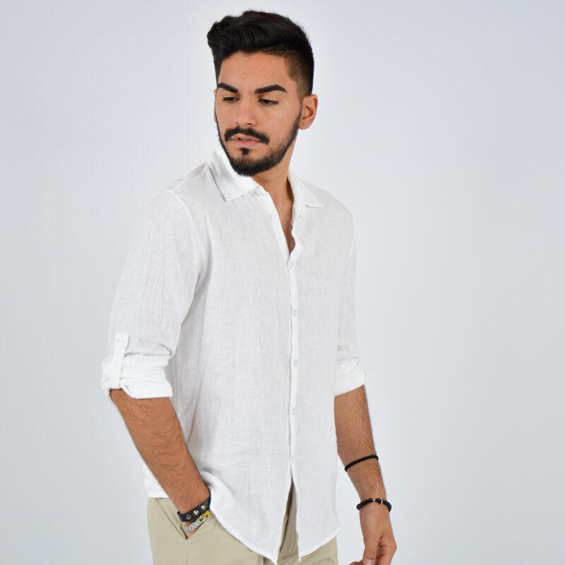 abbigliamento uomo online - camicia uomo manica lunga colletto bianca (4).jpg