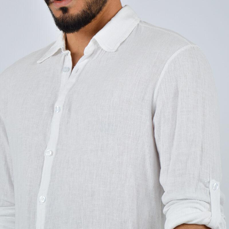 abbigliamento uomo online - camicia uomo manica lunga colletto bianca (5).jpg