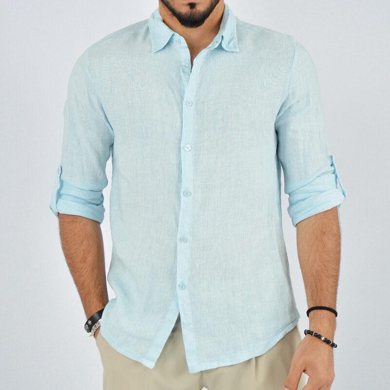 abbigliamento uomo online - camicia uomo manica lunga colletto celeste (2).jpg