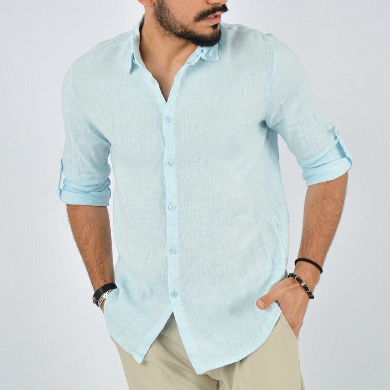 abbigliamento uomo online - camicia uomo manica lunga colletto celeste (3).jpg