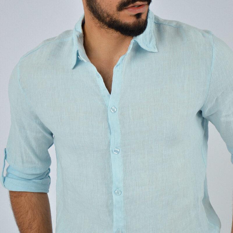 abbigliamento uomo online - camicia uomo manica lunga colletto celeste (6).jpg