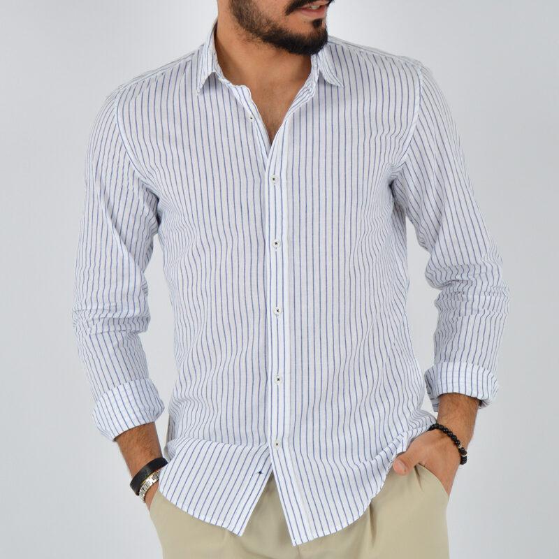 abbigliamento uomo online - camicia uomo collo lino fondo bianco (1).jpg