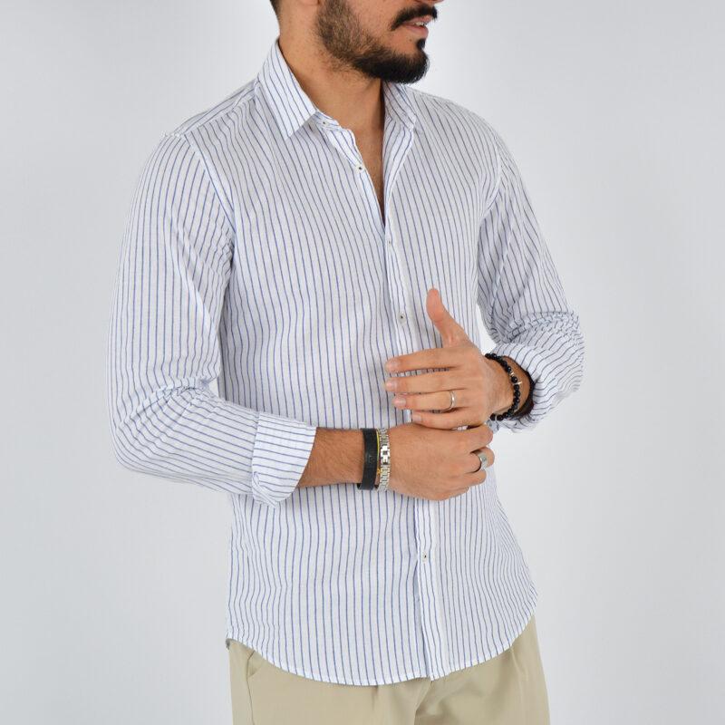 abbigliamento uomo online - camicia uomo collo lino fondo bianco (4).jpg
