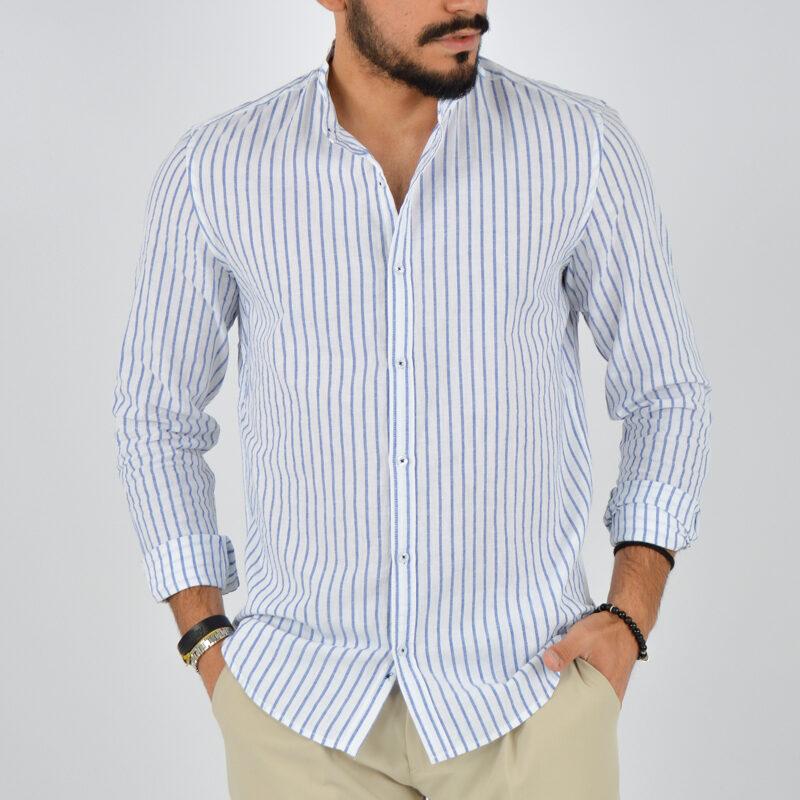 abbigliamento uomo online - camicia uomo coreana lino fondo bianco (1).jpg
