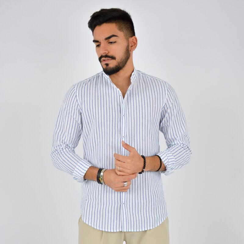 abbigliamento uomo online - camicia uomo coreana lino fondo bianco (2).jpg