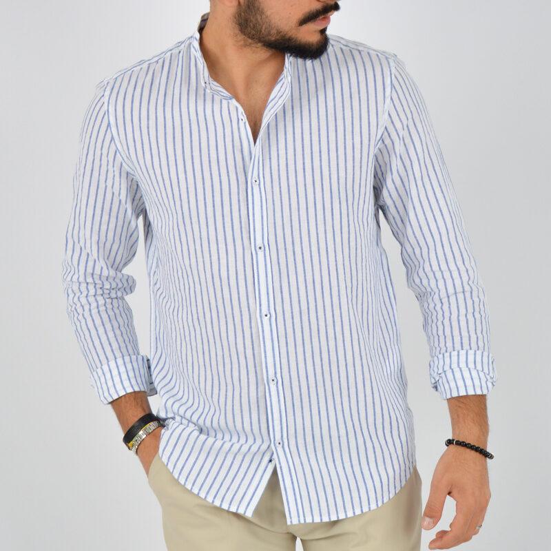 abbigliamento uomo online - camicia uomo coreana lino fondo bianco (4).jpg
