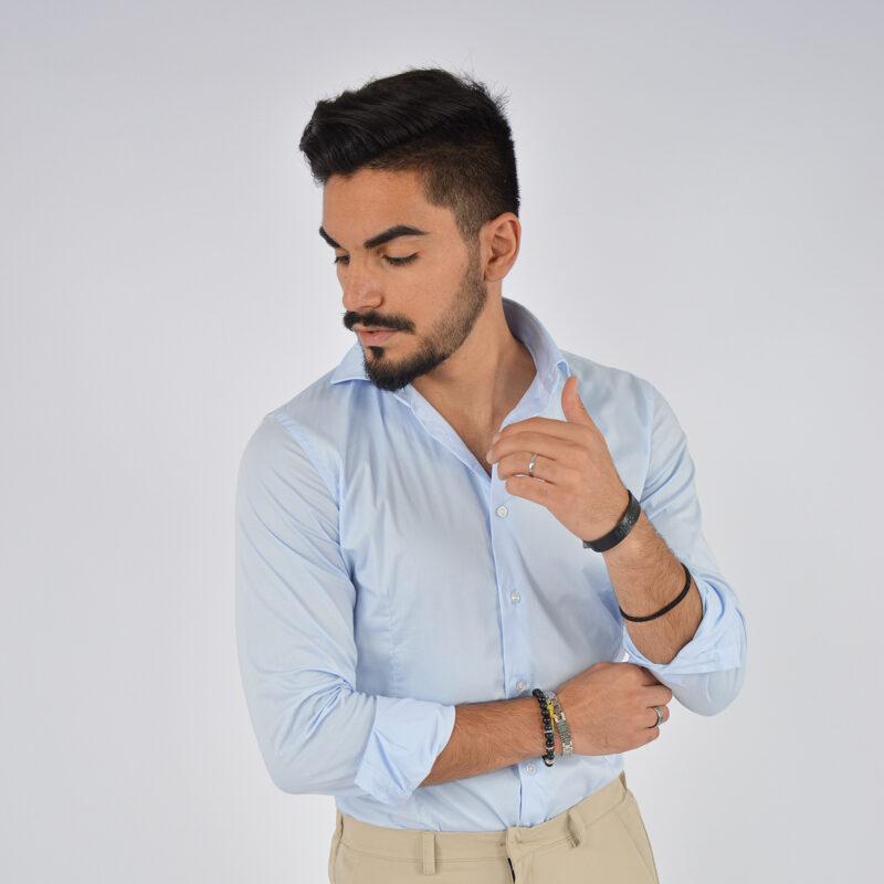 abbigliamento uomo online - camicia uomo in cotone collo francese celeste (4).jpg