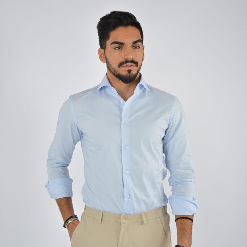 abbigliamento uomo online - camicia uomo in cotone collo francese celeste (5).jpg