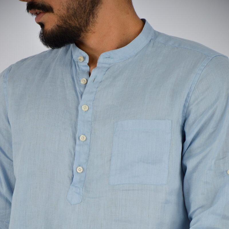abbigliamento uomo online - camicia uomo lino mezzo bottone celeste (6).jpg