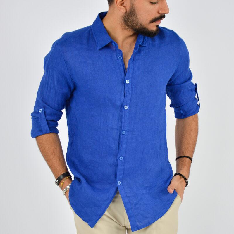 abbigliamento uomo online - camicia uomo manica lunga colletto royal (3).jpg