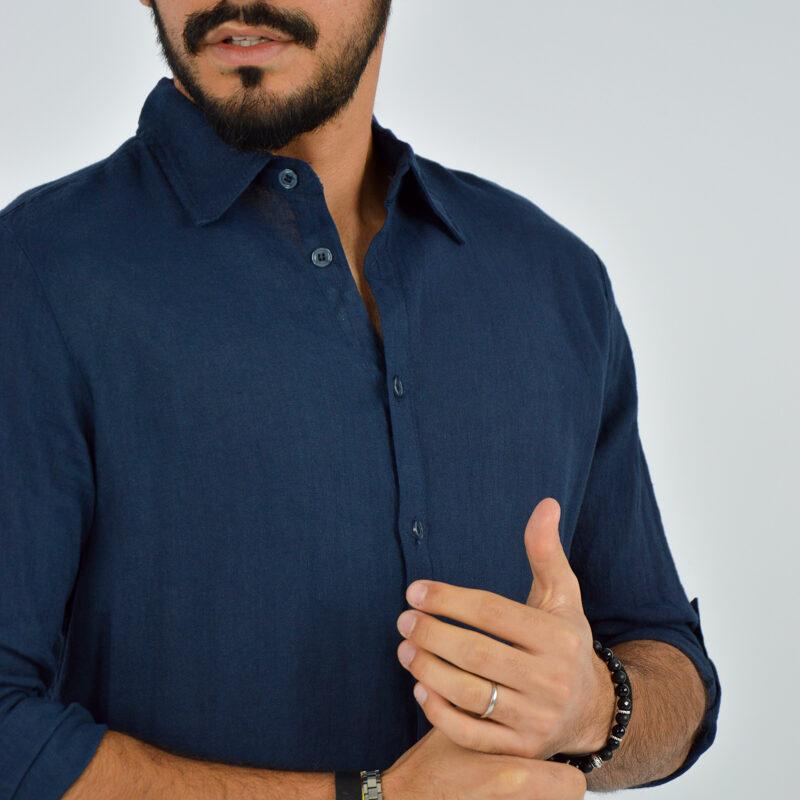 abbigliamento uomo online - camicia uomo manica lunga colletto blu (6).jpg