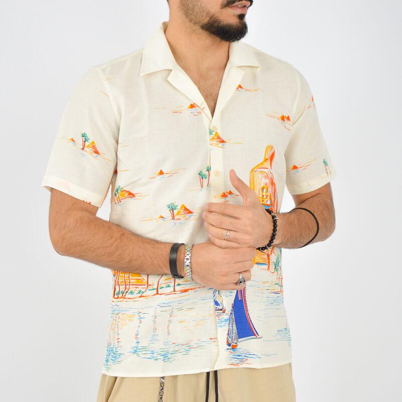 ABBIGLIAMENTO UOMO ONLINE - camicia uomo maniche corte a fantasia (3).jpg