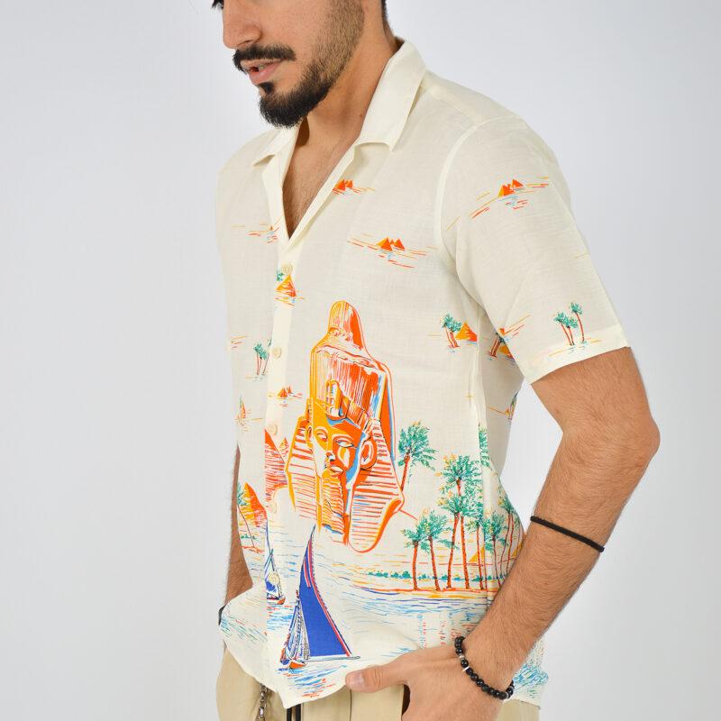 ABBIGLIAMENTO UOMO ONLINE - camicia uomo maniche corte a fantasia (4).jpg