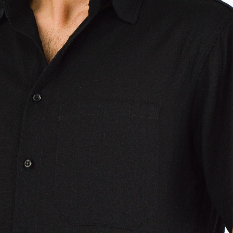 abbigliamento uomo online - camicia uomo maniche corte nera (1).jpg