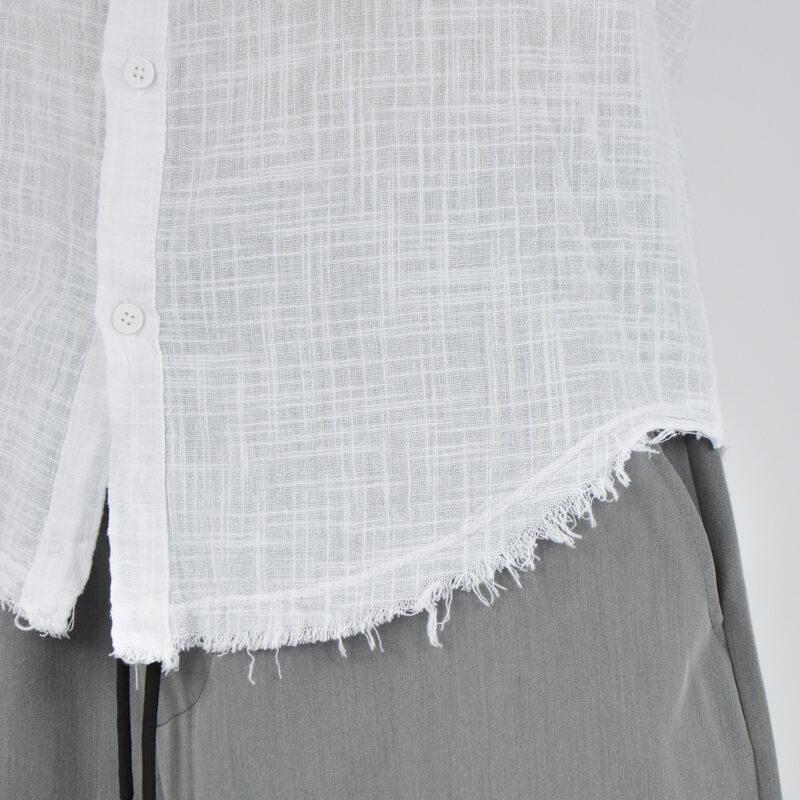 abbigliamento uomo online - camicia uomo con collo sfrangiato bianca (5).jpg