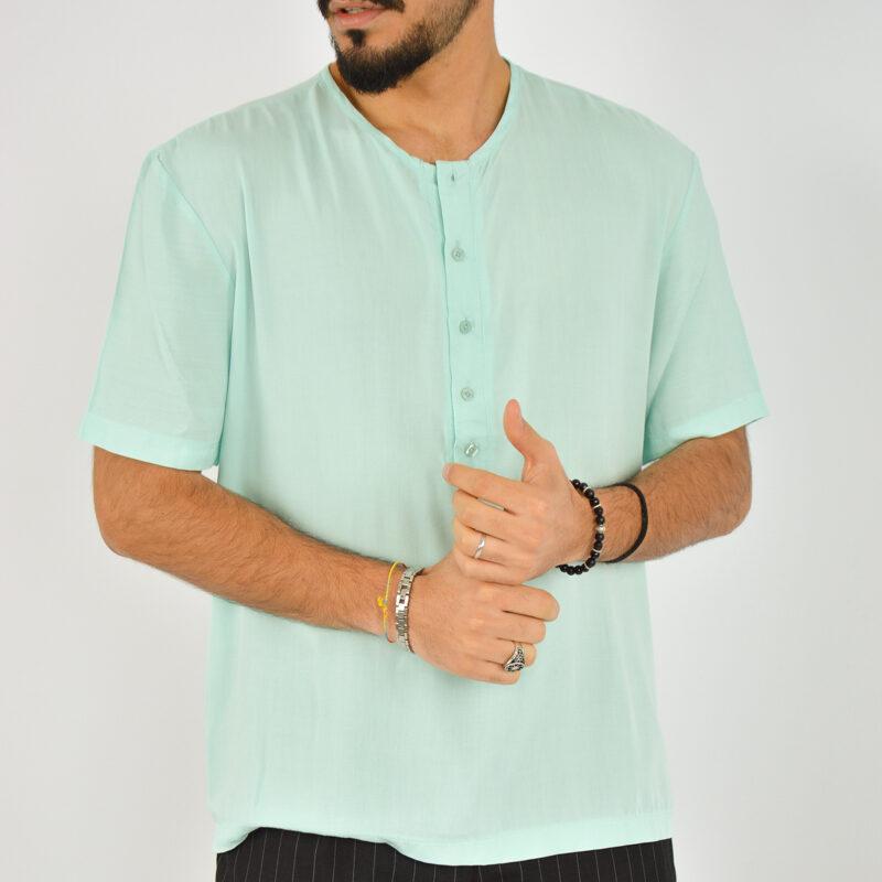 ABBIGLIAMENTO UOMO ONLINE - camicia uomo serafino manica corta verde (2).jpg