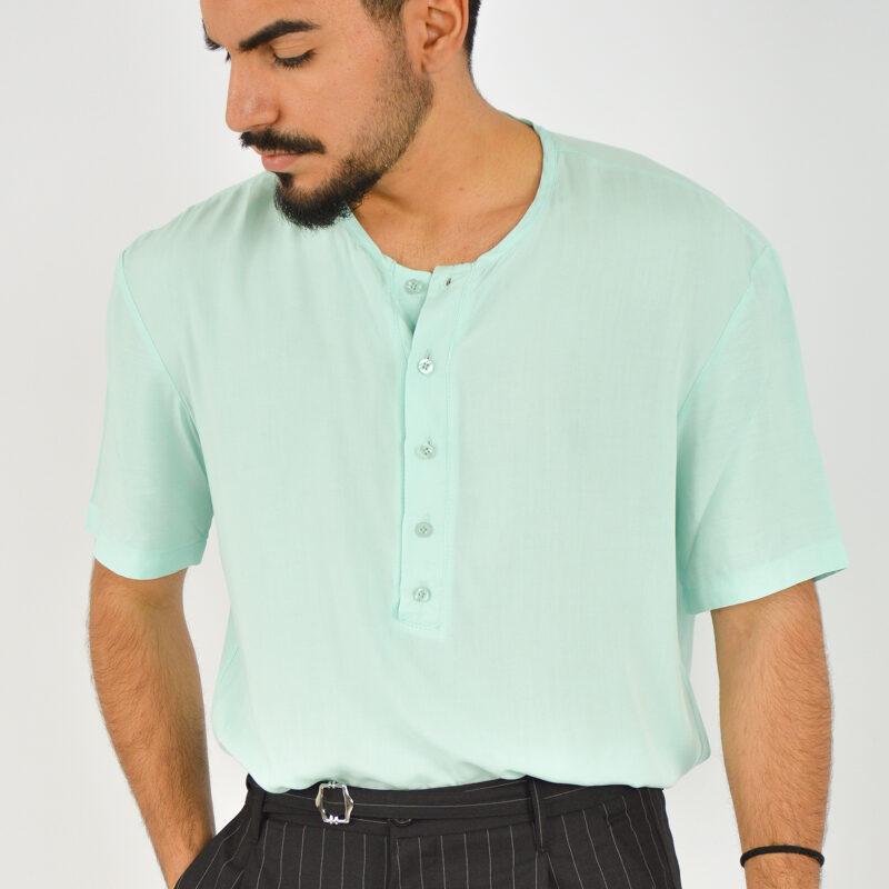 ABBIGLIAMENTO UOMO ONLINE - camicia uomo serafino manica corta verde (3).jpg
