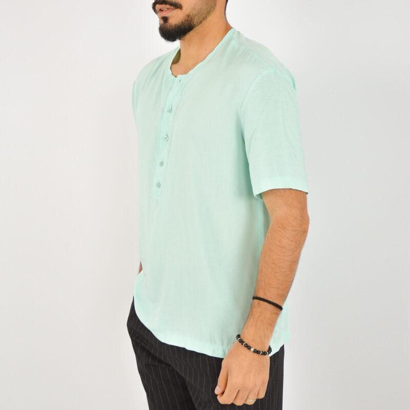 ABBIGLIAMENTO UOMO ONLINE - camicia uomo serafino manica corta verde (6).jpg