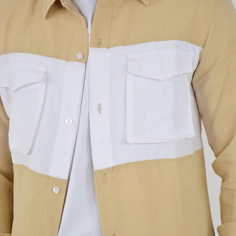 ABBIGLIAMENTO UOMO ONLINE - camicia doppio colore tasche beige (1).jpg